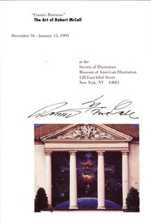 Autographs: ROBERT T. MCCALL - PAMPHLET SIGNED CIRCA 1993