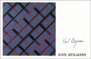 KARL BENJAMIN - PRINTED ART SIGNED IN INK