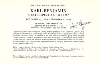 KARL BENJAMIN - PROGRAM SIGNED