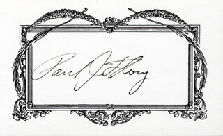 Autographs: PAUL J. FLORY - SIGNATURE(S)