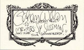 GAHAN WILSON - INSCRIBED SIGNATURE