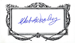 SHEB WOOLEY - AUTOGRAPH