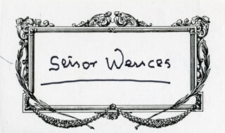 SEÑOR WENCES - SELF-CARICATURE SIGNED