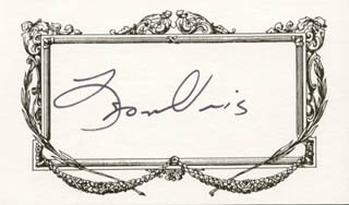 LEON URIS - PRINTED CARD SIGNED IN INK