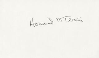Autographs: HOWARD M. TEMIN - SIGNATURE(S)