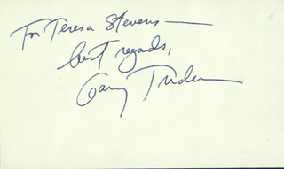 GARRY TRUDEAU - INSCRIBED SIGNATURE