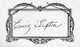 ERIC TIPTON - PRINTED CARD SIGNED IN INK