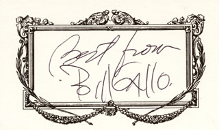 BILL GALLO - AUTOGRAPH SENTIMENT SIGNED