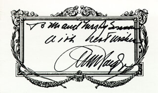 Autographs: GENERAL ALEXANDER M. HAIG JR. - AUTOGRAPH NOTE SIGNED