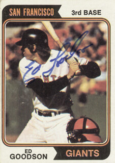 ED GOODSON - TRADING/SPORTS CARD SIGNED