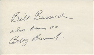 Autographs: BILL BURRUD - SIGNATURE(S)