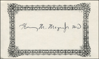 Autographs: HARRY M. MEYER JR. - PRINTED CARD SIGNED IN INK
