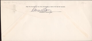 DON RED BARRY - ENVELOPE SIGNED CIRCA 1981