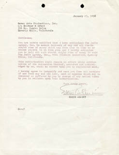 EDDIE ALBERT - DOCUMENT SIGNED 01/23/1958