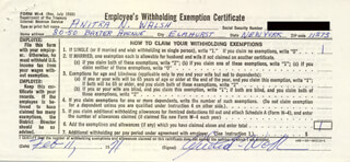 ANITRA N. WALSH - DOCUMENT SIGNED 02/11/1971