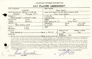 GINO CIMOLI - CONTRACT SIGNED 07/14/1958