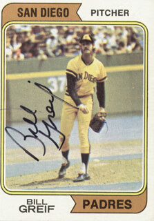 BILL GREIF - TRADING/SPORTS CARD SIGNED