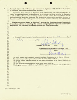 ROBERT STERLING - CONTRACT SIGNED 10/10/1974