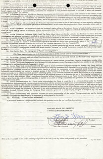 PAT HARRINGTON JR. - CONTRACT DOUBLE SIGNED 03/01/1974