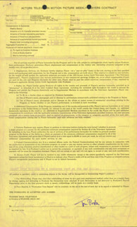 TOM POSTON - DOCUMENT SIGNED 08/16/1976