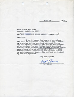 FAT THOMAS - DOCUMENT SIGNED 03/19/1975