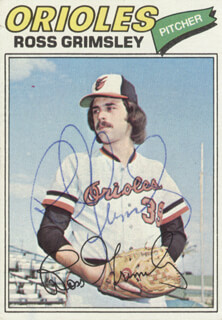 ROSS GRIMSLEY - TRADING/SPORTS CARD SIGNED