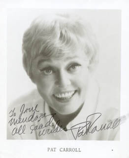 PAT CARROLL - AUTOGRAPHED INSCRIBED PHOTOGRAPH