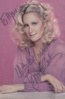 JOAN VAN ARK - INSCRIBED PICTURE POSTCARD SIGNED