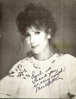 MICHELE LEE - INSCRIBED PICTURE POSTCARD SIGNED CIRCA 1985