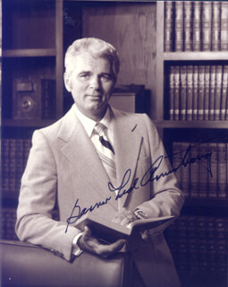 GARNER TED ARMSTRONG - AUTOGRAPHED SIGNED PHOTOGRAPH
