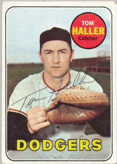 TOM HALLER - TRADING/SPORTS CARD SIGNED