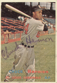 Autographs: CHUCK HARMON - TRADING/SPORTS CARD SIGNED