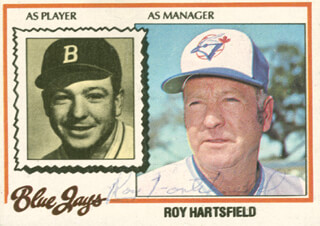 ROY HARTSFIELD - TRADING/SPORTS CARD SIGNED