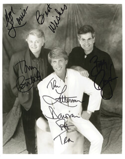 THE LETTERMEN - AUTOGRAPHED SIGNED PHOTOGRAPH CO-SIGNED BY: THE LETTERMEN (TONY BUTALA), THE LETTERMEN (BOBBY POYNTON), THE LETTERMEN (DONOVAN TEA)