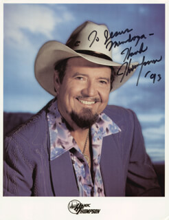 HANK THOMPSON - AUTOGRAPHED INSCRIBED PHOTOGRAPH 1993