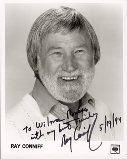 RAY CONNIFF - AUTOGRAPHED INSCRIBED PHOTOGRAPH 05/19/1994