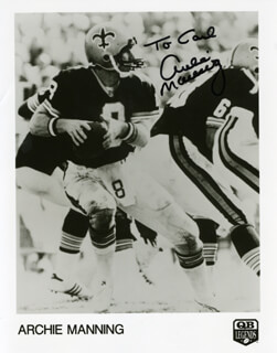 ARCHIE MANNING - AUTOGRAPHED INSCRIBED PHOTOGRAPH