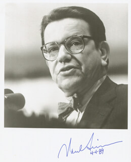 PAUL (POLITICS) SIMON - AUTOGRAPHED SIGNED PHOTOGRAPH 04/04/1989