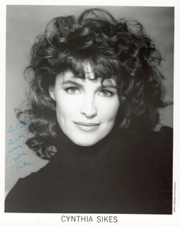 CYNTHIA SIKES - AUTOGRAPHED INSCRIBED PHOTOGRAPH