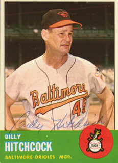 BILLY HITCHCOCK - TRADING/SPORTS CARD SIGNED