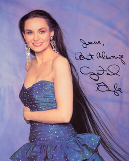CRYSTAL GAYLE - AUTOGRAPHED INSCRIBED PHOTOGRAPH
