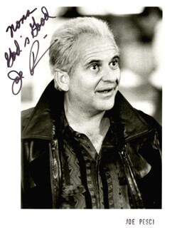 JOE PESCI - AUTOGRAPHED INSCRIBED PHOTOGRAPH