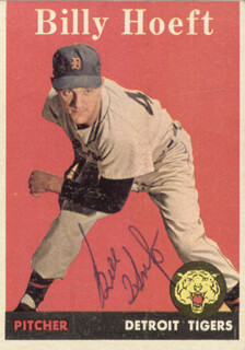 BILLY HOEFT - TRADING/SPORTS CARD SIGNED