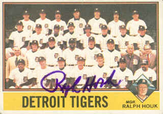 RALPH HOUK - TRADING/SPORTS CARD SIGNED