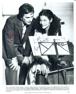 MICKEY AND MAUDE MOVIE CAST - AUTOGRAPHED SIGNED PHOTOGRAPH CO-SIGNED BY: AMY IRVING, DUDLEY MOORE
