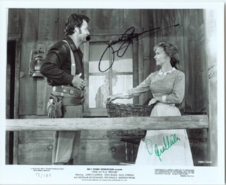 ONE LITTLE INDIAN MOVIE CAST - AUTOGRAPHED SIGNED PHOTOGRAPH CO-SIGNED BY: VERA MILES, JAMES GARNER