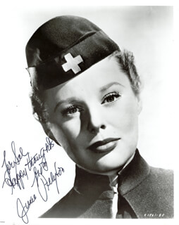 Autographs: JUNE ALLYSON - INSCRIBED PHOTOGRAPH SIGNED