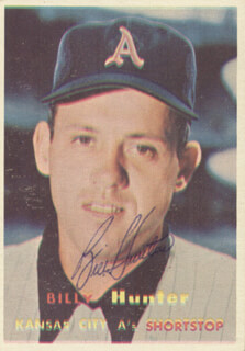 BILLY HUNTER - TRADING/SPORTS CARD SIGNED