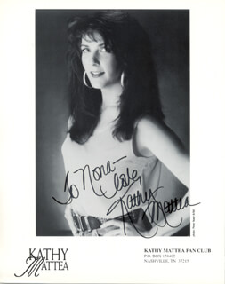KATHY MATTEA - INSCRIBED PRINTED PHOTOGRAPH SIGNED IN INK
