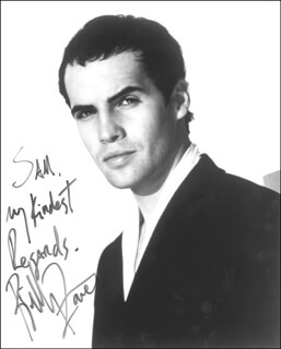 BILLY ZANE - AUTOGRAPHED INSCRIBED PHOTOGRAPH